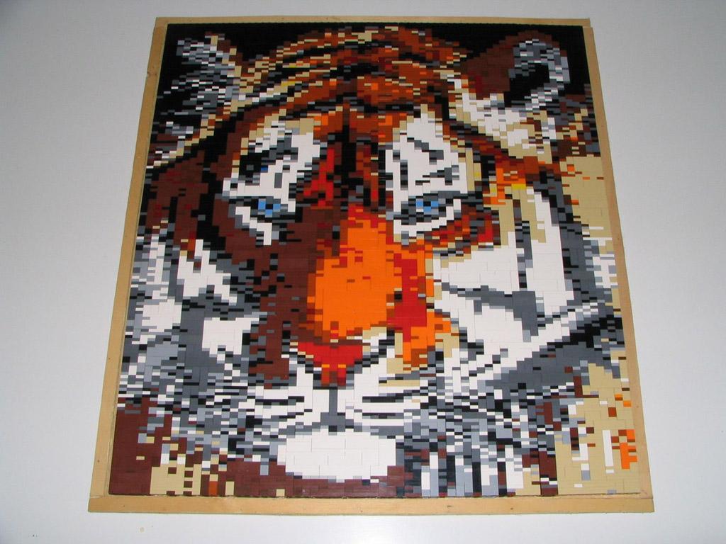 pictobrick mosaic gallery tiger